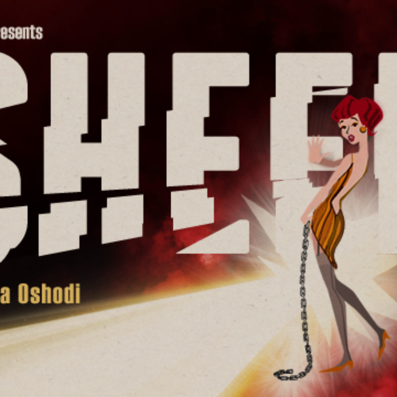 Poster for sheer - large text reads 'Sheer' illuminated from a shard of light coming from off-frame.