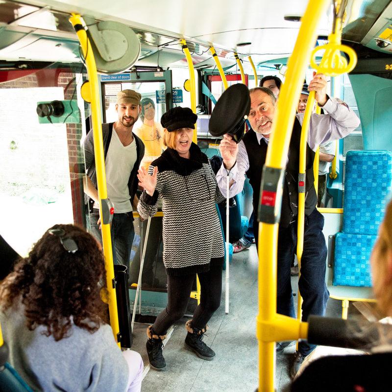 A bus interior