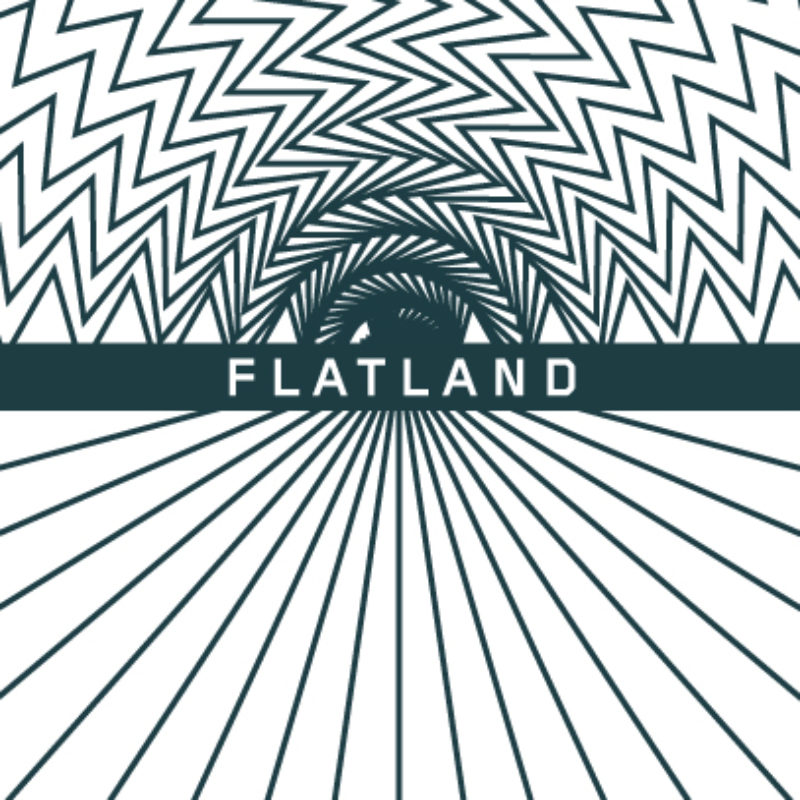 Flatland project ident: a geometric rainbow over a flat horizon
