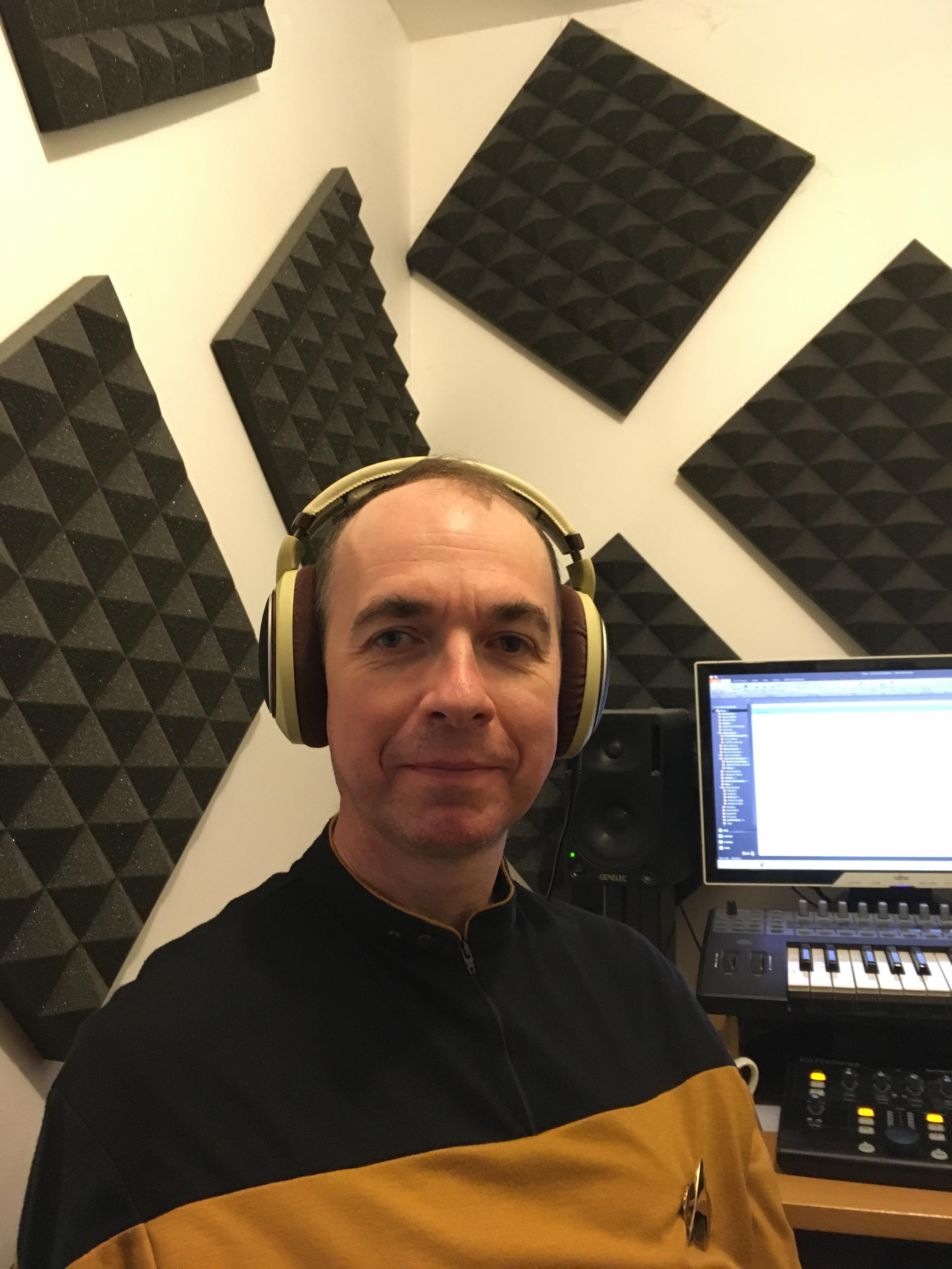 Ian Rattray in the recording studio