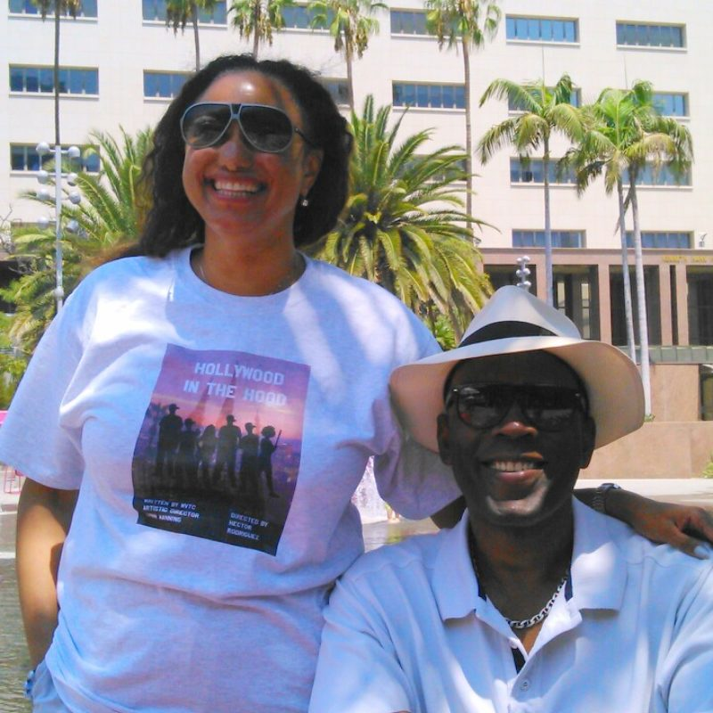 Lynn Manning and Maria Oshodi pictured in Los Angeles