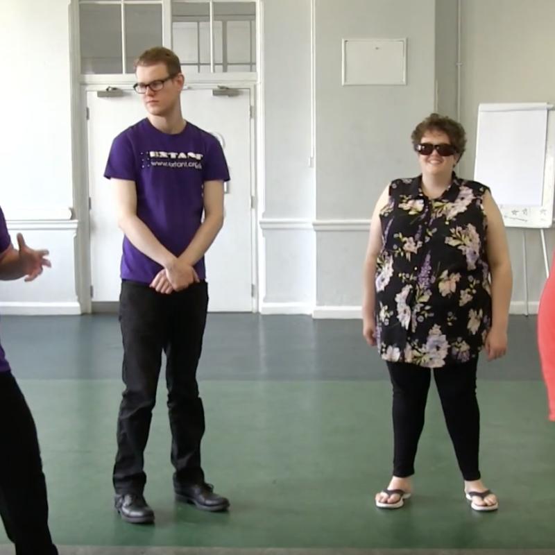 Performers taking part in workshop