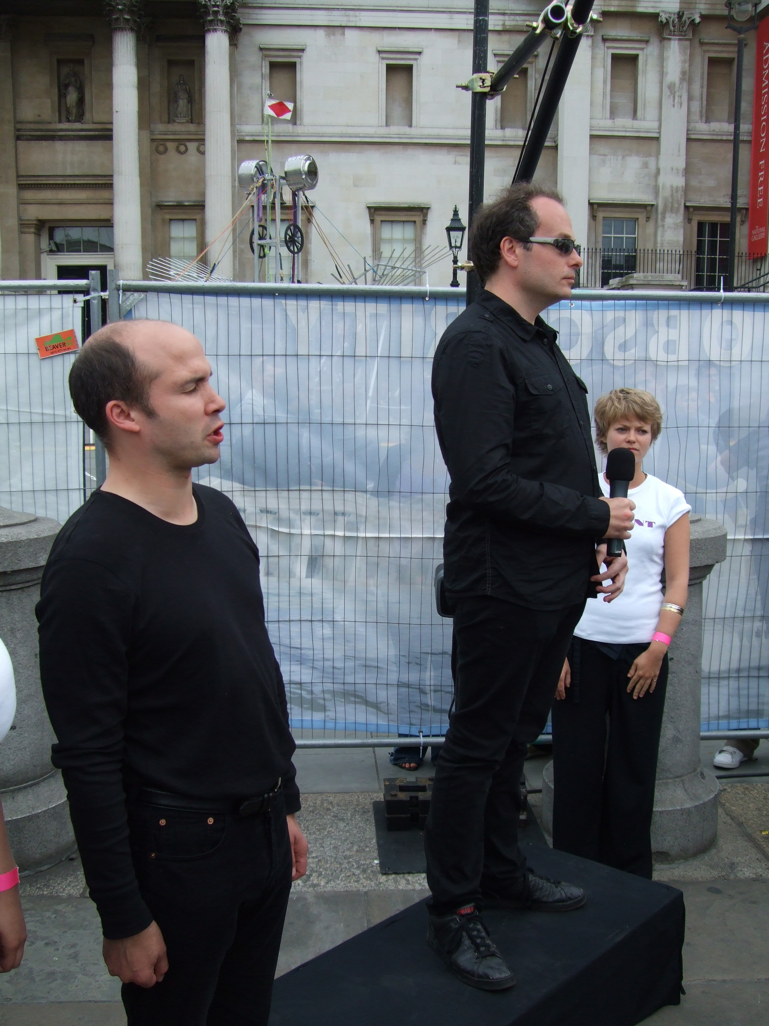 Side profile of Tim in all black, performing alongside Liam in Obscurity at Liberty Festival 2009