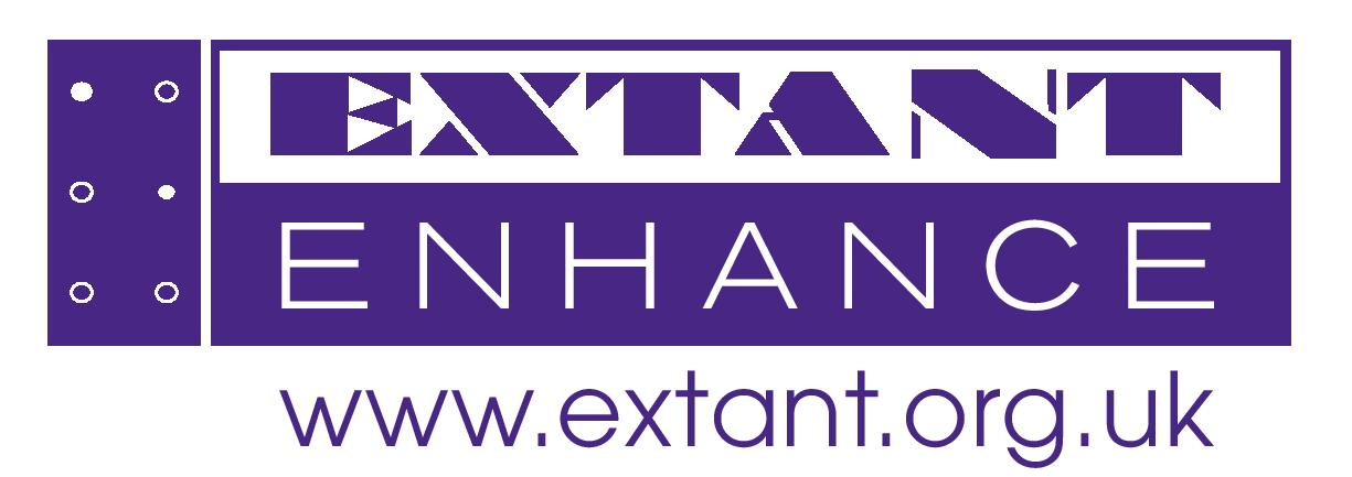 The purple and white Extant Enhance mark.