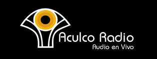Aculco Radio logo of a yellow disc on a fan shape