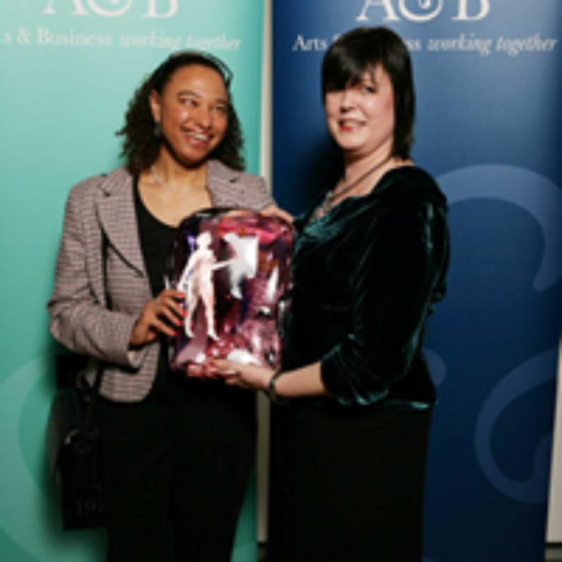 Maria Oshodi and Carmel O'Hara holding award