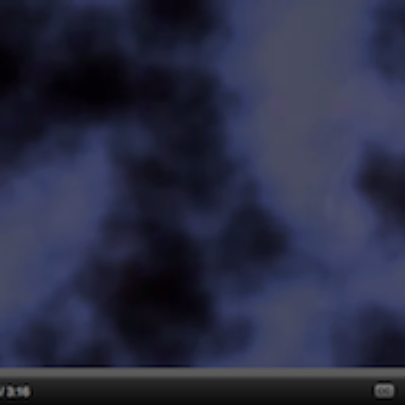 Screengrab of video - a blue mist/fog is all that is shown